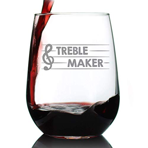 Funny Music Themed Wine Glass