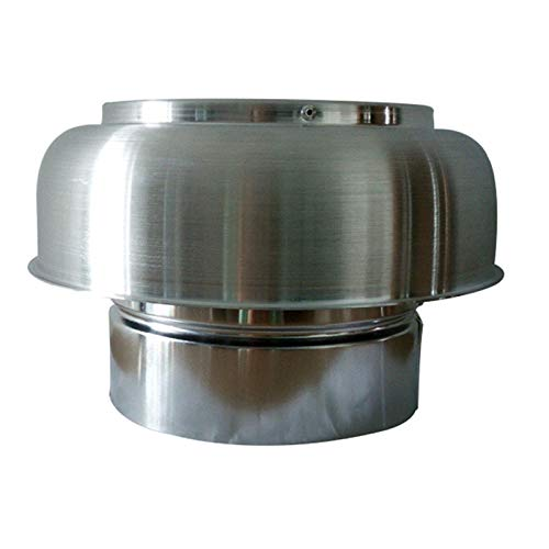 DZDZXQG Schornsteinkappe Regenschutz Windschutz Dachschutzkappe Topf runde Entlüftungshaube Schutzkappe Ende, 158mm