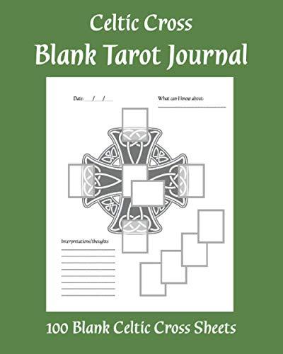 Blank Tarot Journal: Blank Celtic Tarot Book | Tarot Journal for Readers | Forest Green Celtic Cross