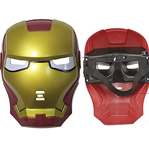 morningsilkwig 2Pcs Masque Ironman Masque de Super-héros de fête pour Les Vacances Cadeau Costume Iron Man