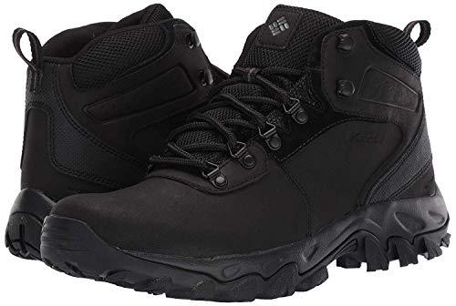Columbia mens Newton Ridge Plus Ii Waterproof Hiking Boot, Black/Black, 8 US