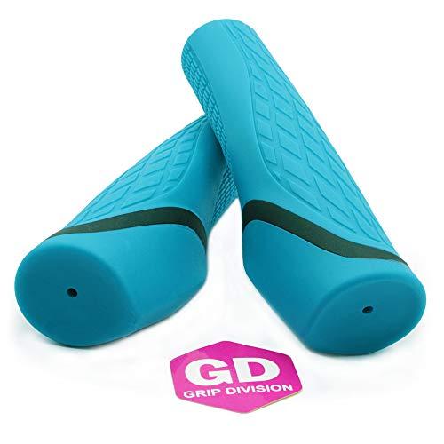 GD Grip Division ® ergonomische Fahrradgriffe, weich und komfortabel, blau