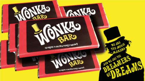 Willy Wonka Chocolate bar (100g chocolate) Best on Amazon