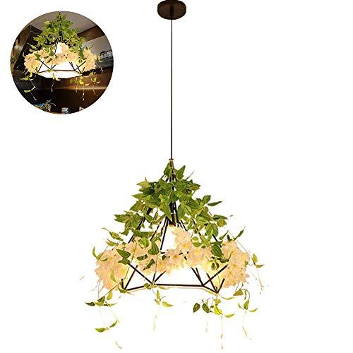 Gijk Led-plafondlamp, notenboom van de plant Edison-lamp, industriële veiligheid, winddicht, creatief licht, nostalgische persoonlijkheid, 38 x 38 cm