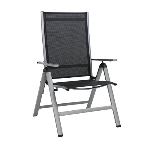 greemotion Monza Comfort sillón de jardín, Plateado, XXL
