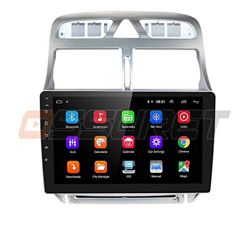 9 Pulgadas Android 10 Quad Core 2 + 32 GB Radio De Coche Navegador GPS Compatible con Peugeot 307 307CC 307SW 2002-2013 Admite Bluetooth 4.0 Radio WiFi 4G USB MicrÓFono CANBUS ISO Cable