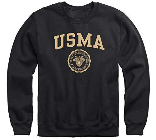 Ivysport US Military Academy (Army) USMA Black Knights Adult Unisex Crewneck Sweatshirt, Heritage, Black, Small