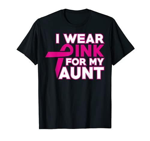 Camisetas Lucha contra el Cáncer de Mama | YO WEAR PINK FOR MY TUNT Camiseta