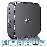 AK2 Mini PC,Intel Celeron Apollo Lake J3455,Windows 10 Pro Mini Computer,8GB RAM/120GB mSATA SSD,4K...