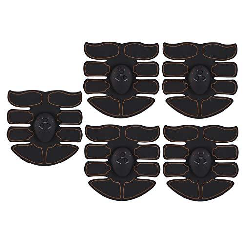 perfeclan 5pcs Electroestimulador Muscular Abdominales, Hombres Mujeres Estimulación Muscular Masajeador Eléctrico Cinturón Abdomen/Brazo/Piernas/Glúteos
