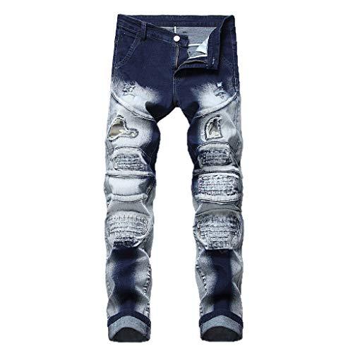 Alikey Jeans broek, slim fit casual, persoonlijkheid, opdruk, herenmode, elastische riem, lang, katoen, joggingpak, joggingbroek met zakken