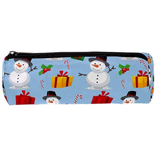 Estuche con diseño de muñeco de nieve navideño, con cremallera, organizador de monedas, bolsa de papelería, bolsa de maquillaje, bolsa de cosméticos para mujeres, adolescentes, niñas y niños