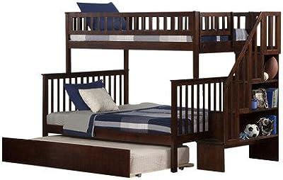 Amazon Com Stair Step Bunk Bed With 3 Drawer Bunk Pedestal Kitchen