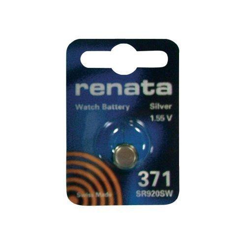 Renata 371 SR920SW Batterie (1,55 V, hergestellt in der Schweiz) silberfarben