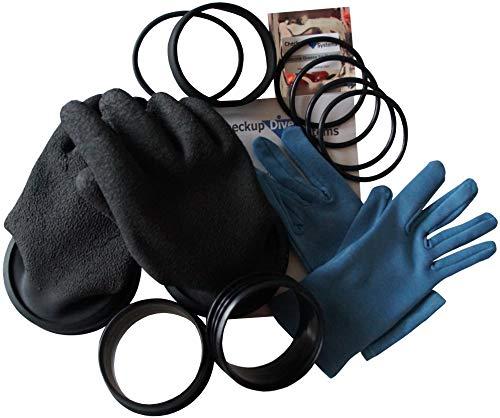 Checkup Dive Systems Unisex– Erwachsene Ring Set mit Handschuhe Helapro, Schwarz, 85, S