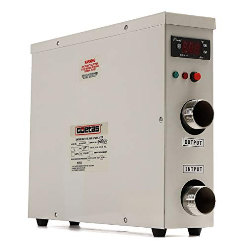 LDCREE Pool Heater Thermostat 11KW 220V Electric Digital Water Heat Pump for Above Ground Inground Swimming Pool SPA Hot Tub Bath