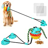Dog Toys for Aggressive Chewers Large Breed Suction Cup Dog Toy for Dog Tug Toy Interactive Dog Toys Indestructible Dog Puzzle Toys