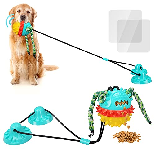 Dog Toys for Aggressive Chewers Large Breed Suction Cup Dog Toy for Dog Tug Toy Interactive Dog Toys...