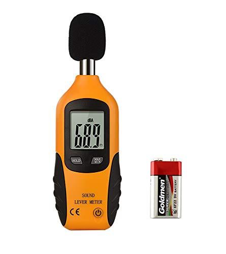 Mengshen Digital Schallpegelmessgerät, Tragbar Sound Level Meter Bereich 30 dBA ~ 130 dBA (9V Batterie enthalten)