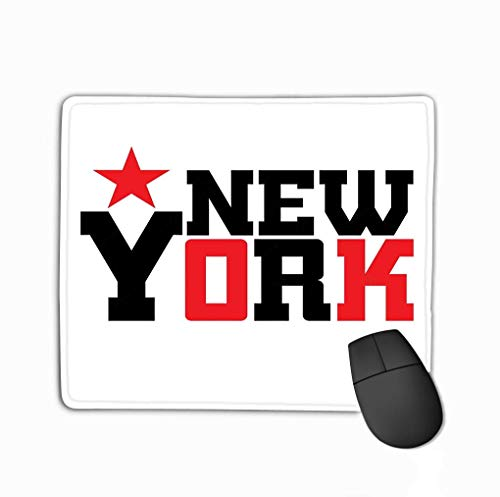 Alfombrilla para ratón Alfombrilla para ratón Estrella de Nueva York Estilo atlético NYC Imprimir Ropa Deportiva Negro Blanco Rojo Plantilla de Emblema