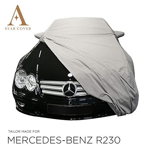 AUTOABDECKUNG Khaki PASSEND FÜR Mercedes-Benz R230 MIT SPIEGELTASCHEN WASSERDICHT AUSSEN VOLLGARAGE IM FREIEN Cover SCHUTZDECKE
