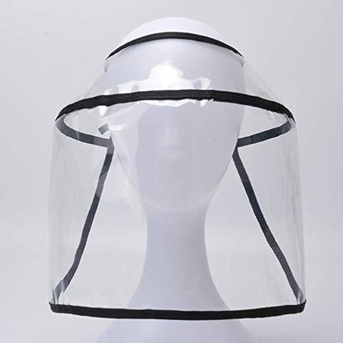 Sombreros protectores, antiescupir máscara de cara, gorra de béisbol extraíble y máscara, gorra de aislamiento de saliva, ajustable impermeable y a prueba de polvo al aire libre pescador Cap