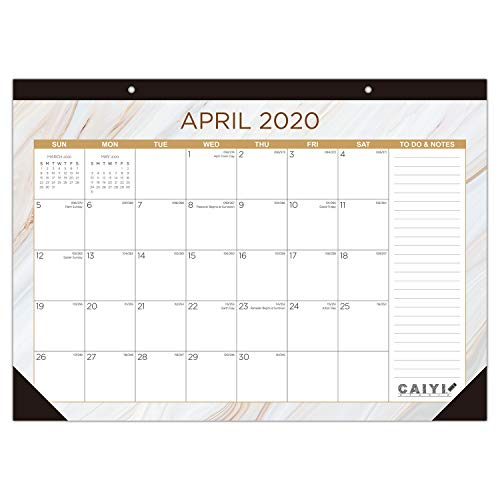 "Desk Calendar 2020-2021: 17"" x 12"" Large Monthly Desk Pad Calendar - 12 Months Desktop/Wall Calendar Planner Runs from April 2020 Through March 2021"