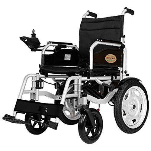 Scooters más viejos,Andador de edad avanzada Andador de ruedas plegable Mango ajustable, Silla de ruedas eléctrica Andador de edad avanzada Inalámbrico Inteligente Completamente automático-5
