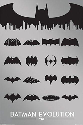 Póster de Batman Evolution Fabricado en el Reino Unido. Tamaño: 61 x 91,5 cm. Se envía enrollado en un tubo de cartón. Producto oficial de DC Comics.