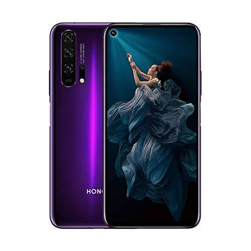 "Honor 20 Pro Smartphone, 8 GB RAM, 256 GB Memory, 6.26 ""FHD + Display, Kirin 980 CPU, מצלמה מרובעת 48 + 16 + 8 + 2 MP, שחור [איטליה]"
