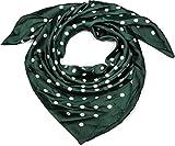 styleBREAKER Damen Dreieckstuch mit Polka Dots Punkte, Multifunktion Tuch, Halstuch, Kopftuch, Bandana 01016171, Farbe:Dunkelgrün