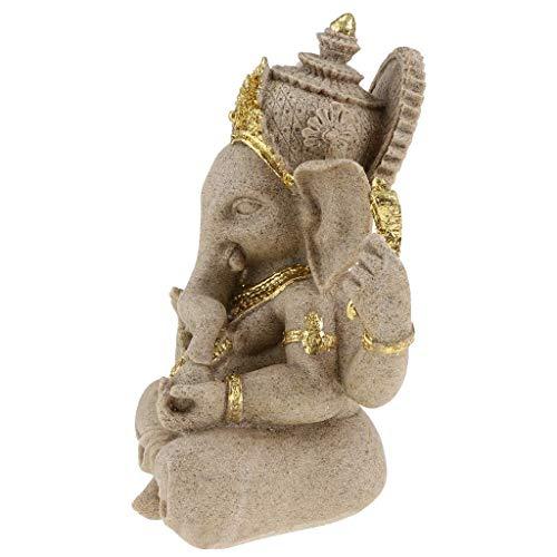 Backbayia - Figura de Elefantes de gres, meditación, Modelo Escultura, diseño de Buda