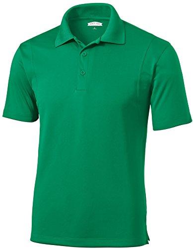 Joe's USA Mens Moisture Wicking Micropique Golf Polos-XXL Kelly Green