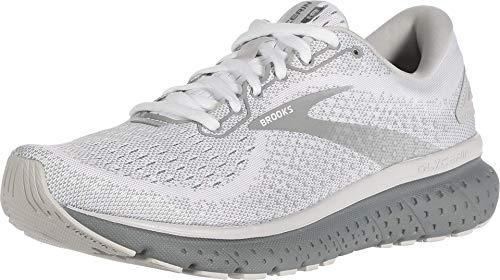 Brooks Womens Glycerin 18 Running Shoe - White/Grey/Primer - B - 8.5