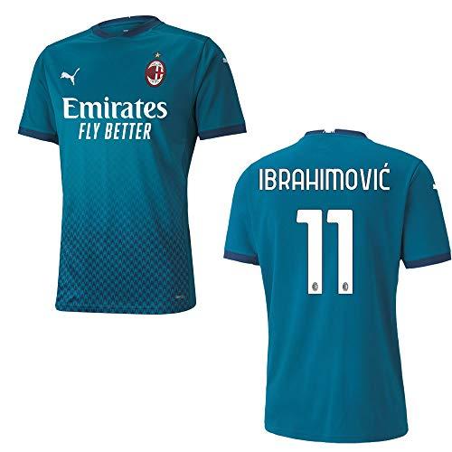 PUMA AC Mailand Trikot 3rd Herren 2021, Größe:L, Spielerflock (zzgl. 17.90EUR):11 Ibrahimovic