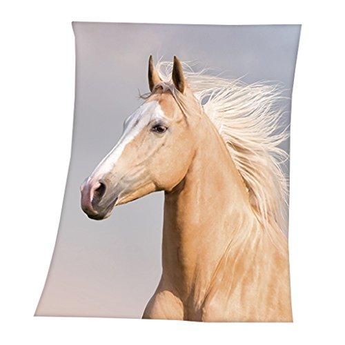 Fleecedecke mit Pferd