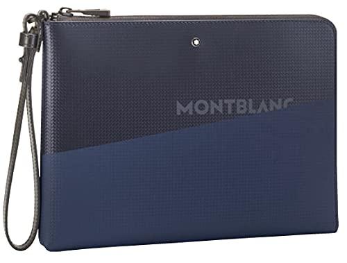 Montblanc MB Extreme 2.0 Pouch Medium wPrint Bl/BK, Borsa Uomo, Nero/Blu, Taglia Unica