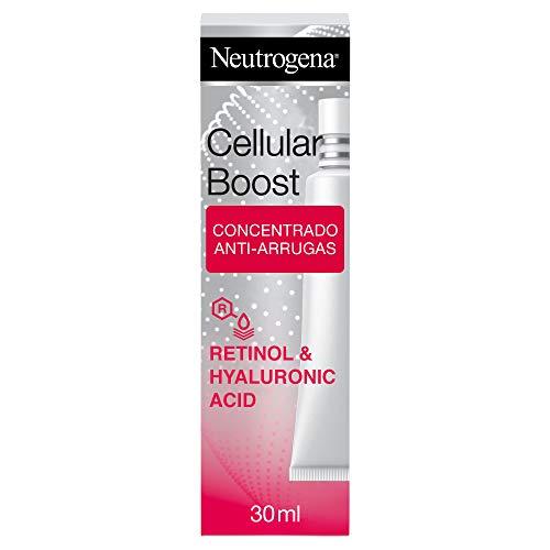 Neutrogena Cellular Boost Antiedad Concentrado Anti Arrugas Intensivo, Con Ácido Hialurónico y Retinol, 30ml