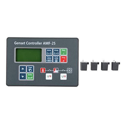 Controlador del generador, pantalla de control de autoencendido del controlador del grupo electrógeno AMF-25 para generador diesel DC 8-35V