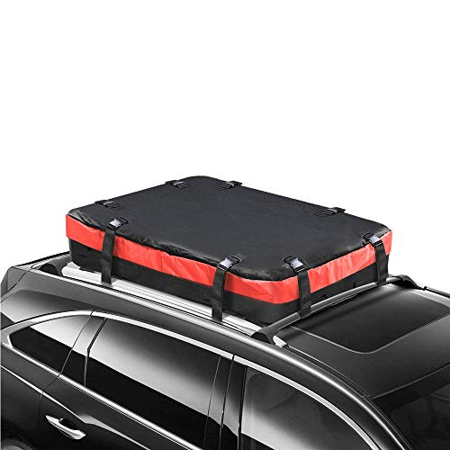 Wasserdicht Dachbox Auto, Für jedes Fahrzeug mit Dachreling oder Dachbalken, Super wasserdichtes Planenmaterial mit Handtasche und Tragegurt - 290 Liter