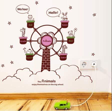 Wandaufkleber, Beliebte Karikatur An Der Wand Des Glücksrads Mobilheim-Wandstift Die Lebende Wand 60 Cm * 90 Cm