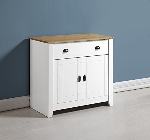 Ludlow Sideboard in White/Oak
