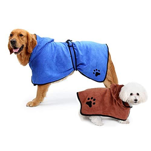 rosemaryrose EU Albornoz para Perros,Toallas para Perro, Secado rápido de Microfibra y Hidrófugo Toalla Seca para baño Toalla Absorbente Súper Suave para Perros y Gatos