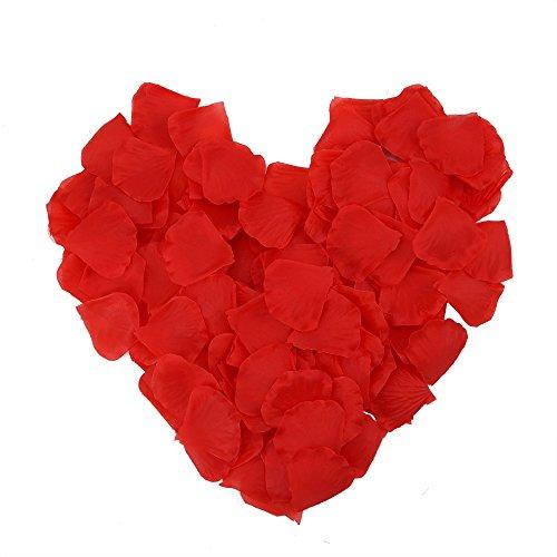 Lot de 1000pétales de rose en soie Fête Mariage Rouge