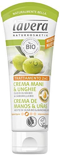 Lavera Crème de Mains et Ongles à l'Huile d'Olive Bio et camomille – vegano – Cosmétiques naturels 100% certifié – Soin de la peau – 75 ml