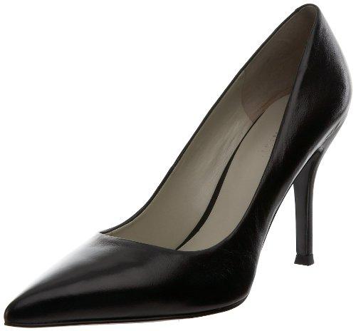 Nine West Women's Flax Pointed Toe Dress Pump, Black Leather, 8