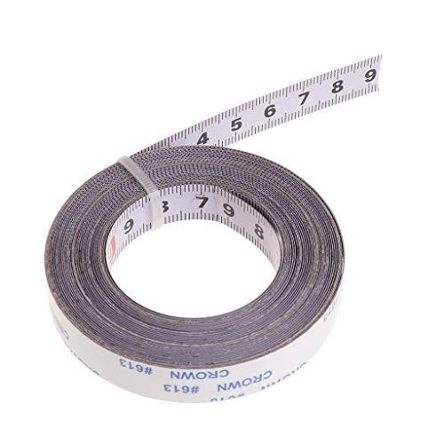 XIGAWAY Cinta métrica de acero para sierra ingletadora (1/2/3/5 m, 2 m, izquierda a derecha)