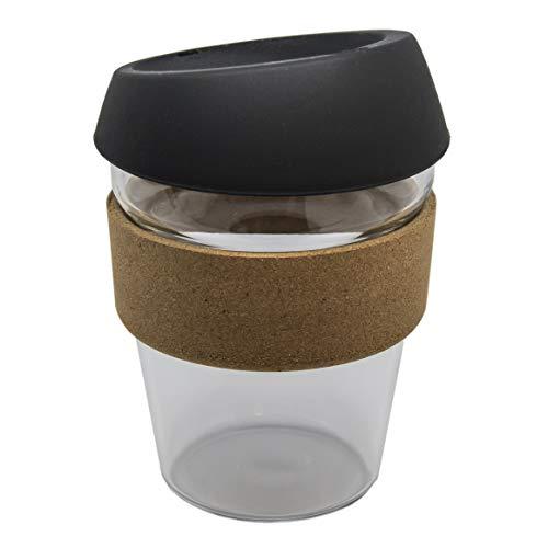 Eco-friendly Coffee Cup - Kaffeebecher, ToGo-Becher, wiederverwendbar, aus Glas & Kork (340ml)