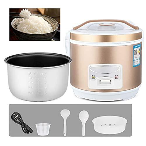 Cuociriso e Vaporiera con Pentola Interna di Alta qualità, Spatola per Riso e Misurino per Cucinare la Zuppa Riso Porridge(2-5L/400-900W/220V),5L-Gold