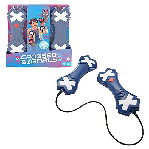 Mattel Games HCF41 - Crossed Signals Familienspiel mit sprechenden Leuchtstäben, alleine oder in der Gruppe mit bis zu 4 Spielern spielbar, ab 8 Jahren